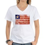 Liberia Flag Women's V-Neck T-Shirt