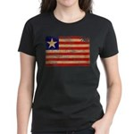 Liberia Flag Women's Dark T-Shirt