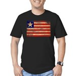 Liberia Flag Men's Fitted T-Shirt (dark)