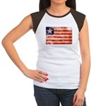 Liberia Flag Women's Cap Sleeve T-Shirt