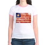 Liberia Flag Jr. Ringer T-Shirt