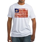 Liberia Flag Fitted T-Shirt
