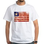 Liberia Flag White T-Shirt