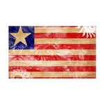Liberia Flag 38.5 x 24.5 Wall Peel