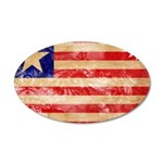 Liberia Flag 38.5 x 24.5 Oval Wall Peel