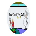 Comic You Can Do Ornament (Oval)