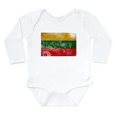Lithuania Flag Long Sleeve Infant Bodysuit