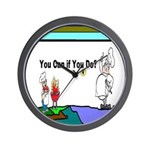 Comic You Can Do Wall Clock