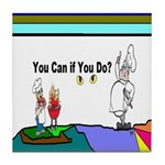 Comic You Can Do Tile Coaster