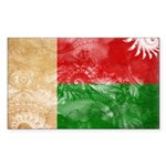 Madagascar Flag Sticker (Rectangle 50 pk)