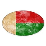 Madagascar Flag Sticker (Oval 10 pk)