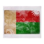Madagascar Flag Throw Blanket
