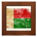 Madagascar Flag Framed Tile