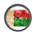 Madagascar Flag Wall Clock