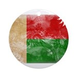 Madagascar Flag Ornament (Round)