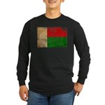 Madagascar Flag Long Sleeve Dark T-Shirt