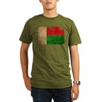 Madagascar Flag Organic Men's T-Shirt (dark)