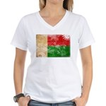Madagascar Flag Women's V-Neck T-Shirt