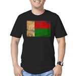 Madagascar Flag Men's Fitted T-Shirt (dark)