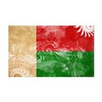 Madagascar Flag 38.5 x 24.5 Wall Peel