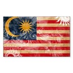 Malaysia Flag Sticker (Rectangle 50 pk)