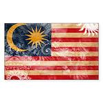 Malaysia Flag Sticker (Rectangle)