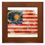 Malaysia Flag Framed Tile