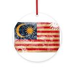 Malaysia Flag Ornament (Round)