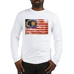 Malaysia Flag Long Sleeve T-Shirt