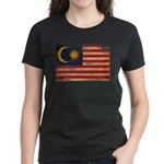 Malaysia Flag Women's Dark T-Shirt