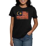 Malaysia Flag Women's Dark T-Shirt