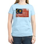 Malaysia Flag Women's Light T-Shirt