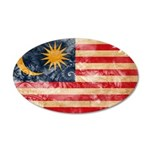 Malaysia Flag 22x14 Oval Wall Peel