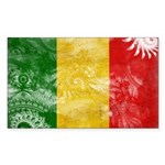 Mali Flag Sticker (Rectangle)