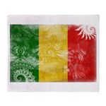 Mali Flag Throw Blanket