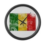 Mali Flag Large Wall Clock