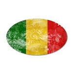 Mali Flag 38.5 x 24.5 Oval Wall Peel