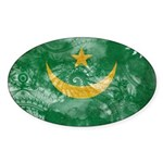 Mauritania Flag Sticker (Oval 10 pk)