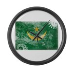 Mauritania Flag Large Wall Clock