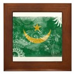 Mauritania Flag Framed Tile