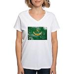 Mauritania Flag Women's V-Neck T-Shirt