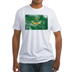 Mauritania Flag Fitted T-Shirt