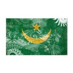 Mauritania Flag 38.5 x 24.5 Wall Peel