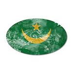 Mauritania Flag 38.5 x 24.5 Oval Wall Peel