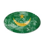 Mauritania Flag 22x14 Oval Wall Peel