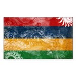 Mauritius Flag Sticker (Rectangle)