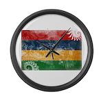 Mauritius Flag Large Wall Clock