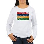 Mauritius Flag Women's Long Sleeve T-Shirt