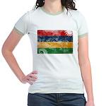 Mauritius Flag Jr. Ringer T-Shirt
