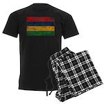Mauritius Flag Men's Dark Pajamas